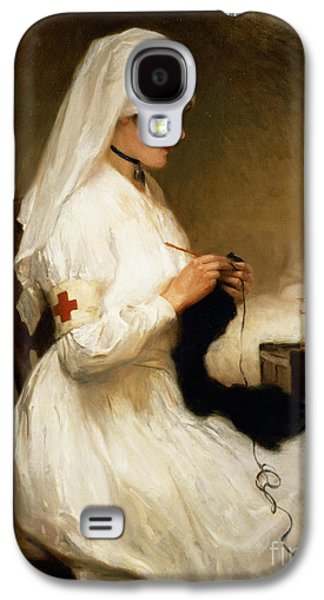 Bed Galaxy S4 Cases - Portrait of a Nurse from the Red Cross Galaxy S4 Case by Gabriel Emile Niscolet