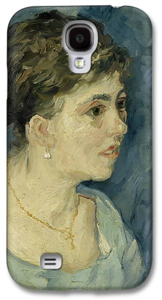 Prostitutes Paintings Galaxy S4 Cases - Portrait of a prostitute Galaxy S4 Case by Vincent van Gogh