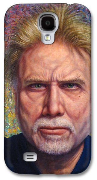 Self Portrait Galaxy S4 Cases - Portrait of a Serious Artist Galaxy S4 Case by James W Johnson