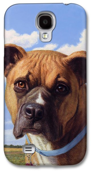 Portrait Of A Sweet Boxer Galaxy S4 Case by James W Johnson