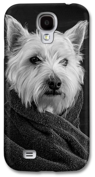 Tapestries Textiles Galaxy S4 Cases - Portrait of a Westie Dog Galaxy S4 Case by Edward Fielding