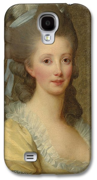 Primroses Galaxy S4 Cases - Portrait of a woman Galaxy S4 Case by Elisabeth Louise Vigee-Lebrun