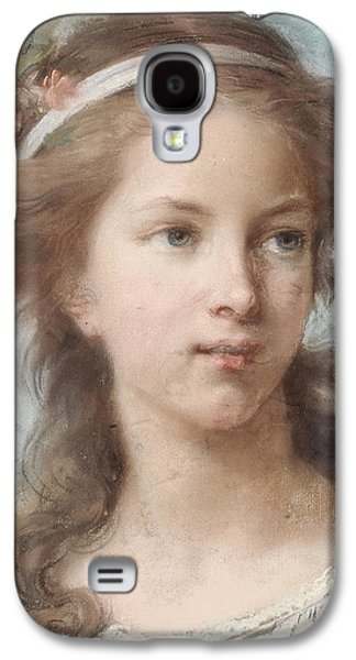 Girl Pastels Galaxy S4 Cases - Portrait of a young girl Galaxy S4 Case by Elisabeth Louise