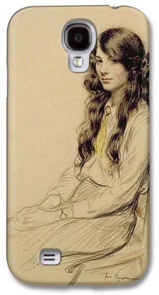 Portrait Of A Young Girl Galaxy S4 Case by Frederick Pegram