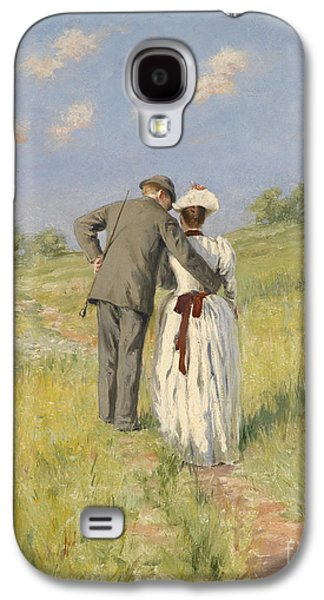Portrait Of Captain William Holmes And Mary Shafter Mckitterick Galaxy S4 Case by American School