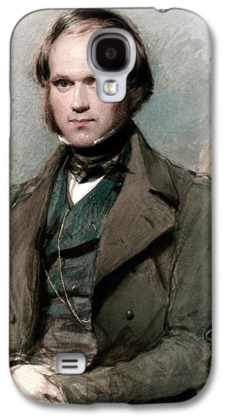 Theory Galaxy S4 Cases - Portrait of Charles Darwin Galaxy S4 Case by George Richmond