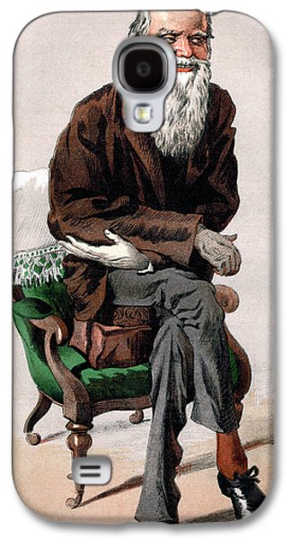 Chair Drawings Galaxy S4 Cases - Portrait of Charles Darwin Galaxy S4 Case by James Jacques Joseph Tissot
