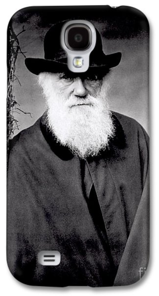 Black And White Photos Galaxy S4 Cases - Portrait of Charles Darwin Galaxy S4 Case by Julia Margaret Cameron