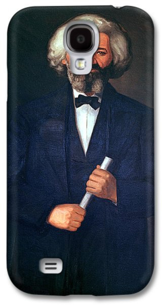 Politician Paintings Galaxy S4 Cases - Portrait of Frederick Douglass Galaxy S4 Case by American School