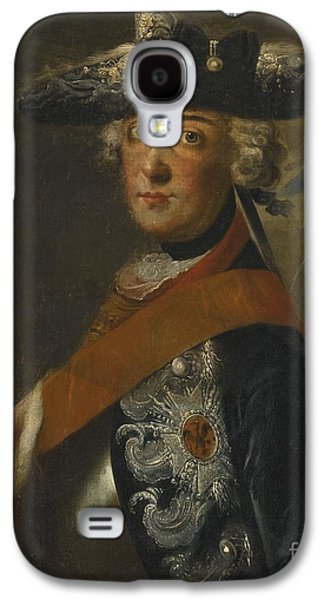 The Followers Paintings Galaxy S4 Cases - Portrait Of Frederick The Great Of Prussia Galaxy S4 Case by Follower of Antoine Pesne