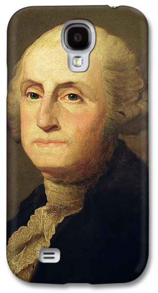 Politician Paintings Galaxy S4 Cases - Portrait of George Washington Galaxy S4 Case by Gilbert Stuart