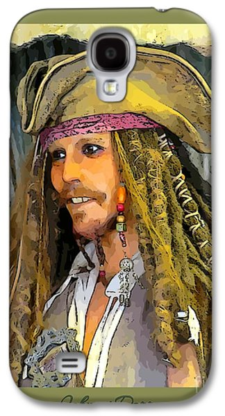 Celebrities Sculptures Galaxy S4 Cases - Portrait of Johnny Depp Galaxy S4 Case by John Malone