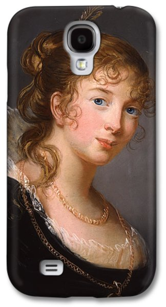 Blue Pastels Galaxy S4 Cases - Portrait of Louisa Princess Radziwill  Galaxy S4 Case by Elisabeth Louise Vigee-Lebrun