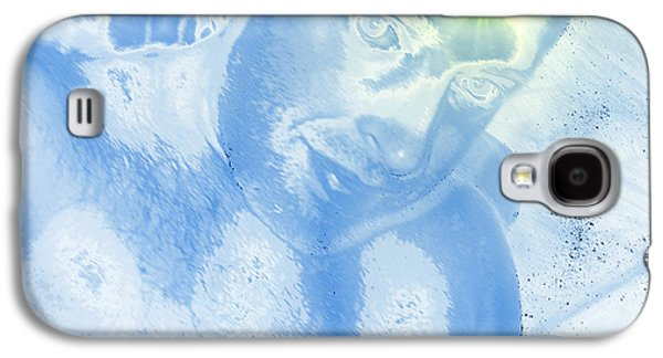 Abstract Digital Art Galaxy S4 Cases - Portrait of the Artist with Halo Galaxy S4 Case by Stephen  Killeen
