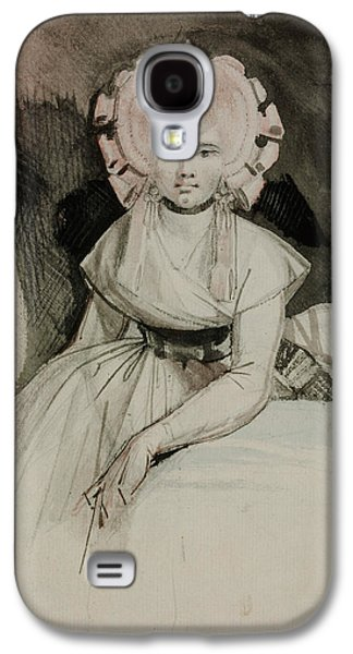 Swiss Drawings Galaxy S4 Cases - Portrait of the Artists Wife Galaxy S4 Case by Henry Fuseli