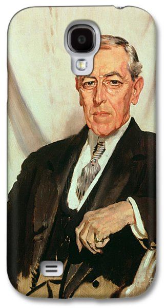Politician Paintings Galaxy S4 Cases - Portrait of Woodrow Wilson Galaxy S4 Case by Sir William Orpen