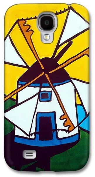 Portuguese Singing Windmill By Dora Hathazi Mendes Galaxy S4 Case by Dora Hathazi Mendes