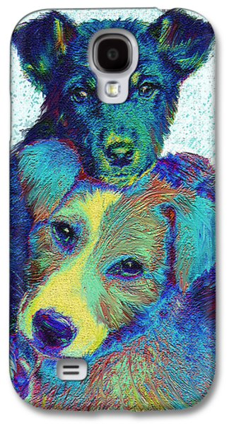 Puppy Digital Art Galaxy S4 Cases - Pound Puppies Galaxy S4 Case by Jane Schnetlage