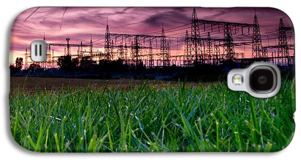 Power Galaxy S4 Cases - Power Lines Sunset Galaxy S4 Case by Cale Best