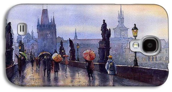 Old Galaxy S4 Cases - Prague Charles Bridge Galaxy S4 Case by Yuriy  Shevchuk