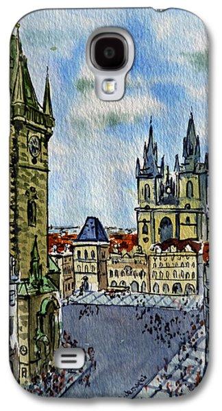 Town Square Galaxy S4 Cases - Prague Czech Republic Galaxy S4 Case by Irina Sztukowski
