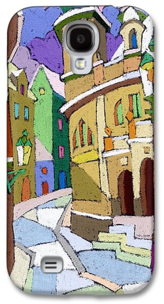 Old Street Galaxy S4 Cases - Prague Old Street Karlova Winter Galaxy S4 Case by Yuriy  Shevchuk