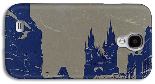 Towers Digital Galaxy S4 Cases - Prague old town square Galaxy S4 Case by Naxart Studio