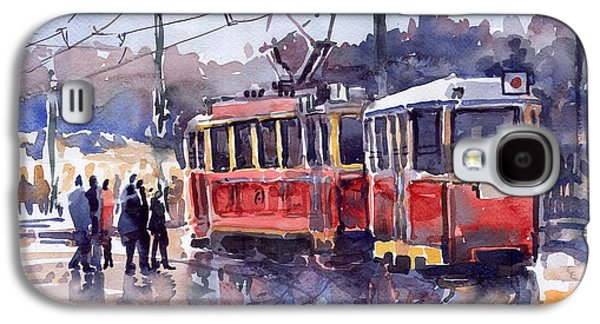 Prague Old Tram 01 Galaxy S4 Case by Yuriy  Shevchuk