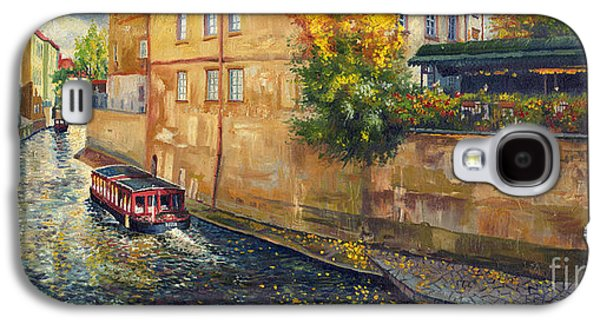 Town Paintings Galaxy S4 Cases - Prague Venice Chertovka 2 Galaxy S4 Case by Yuriy  Shevchuk