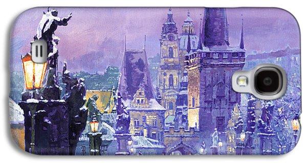 Prague Winter Charles Bridge Galaxy S4 Case by Yuriy Shevchuk