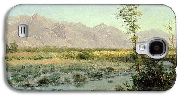 Prairie Landscape Galaxy S4 Case by Albert Bierstadt