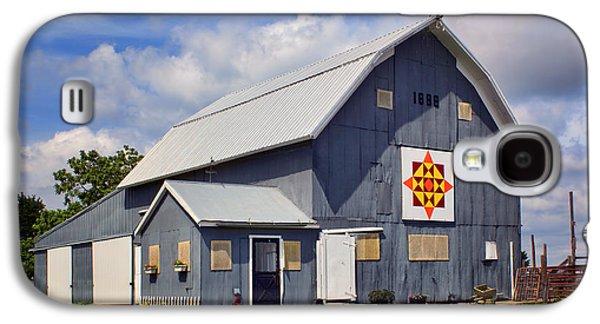 Prairie Sunrise - Quilt Barn - Nebraska Galaxy S4 Case by Nikolyn McDonald