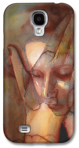 Crying Drawings Galaxy S4 Cases - Prayer Two Galaxy S4 Case by Graham Dean