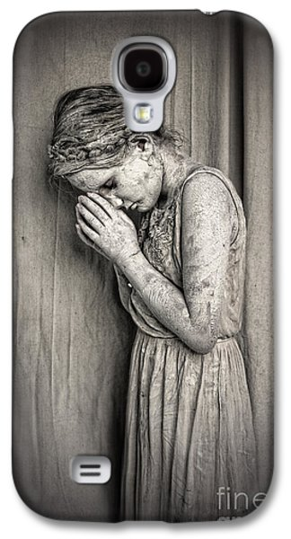 Statue Portrait Mixed Media Galaxy S4 Cases - Prayers for the Persecuted Galaxy S4 Case by Spokenin RED