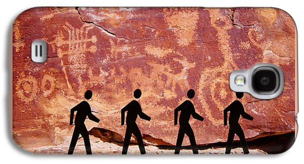 Beatles Galaxy S4 Cases - PreHistoric Rock The Beatles Abbey Road Galaxy S4 Case by James Mikkelsen