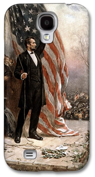 President Abraham Lincoln Giving A Speech Galaxy S4 Case by War Is Hell Store