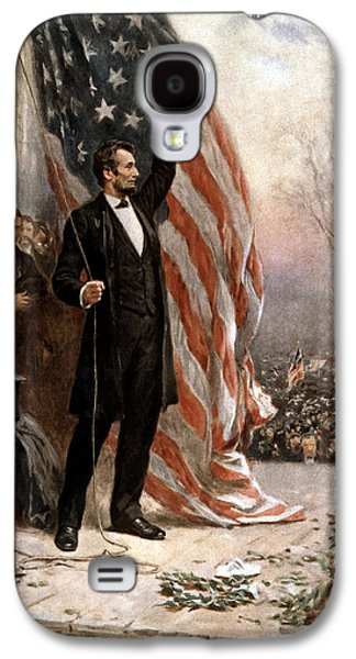 Abraham Lincoln Galaxy S4 Cases - President Abraham Lincoln Giving A Speech Galaxy S4 Case by War Is Hell Store