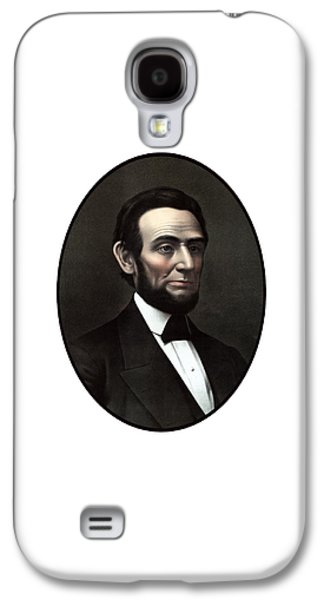 Abraham Lincoln Galaxy S4 Cases - President Abraham Lincoln  Galaxy S4 Case by War Is Hell Store