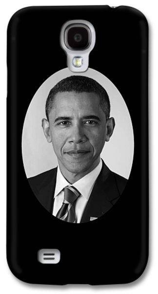 Barack Obama Mixed Media Galaxy S4 Cases - President Barack Obama Galaxy S4 Case by War Is Hell Store