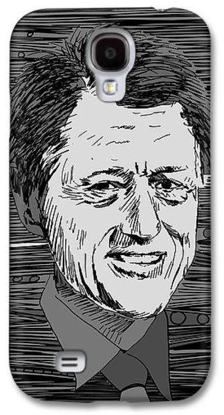 Bill Clinton Galaxy S4 Cases - President Bill Clinton Galaxy S4 Case by Artist  Singh