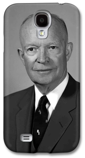 United States Paintings Galaxy S4 Cases - President Eisenhower Galaxy S4 Case by War Is Hell Store