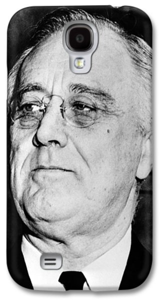 Americans Galaxy S4 Cases - President Franklin Delano Roosevelt Galaxy S4 Case by War Is Hell Store