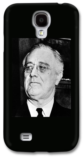 Leaders Galaxy S4 Cases - President Franklin Delano Roosevelt Galaxy S4 Case by War Is Hell Store