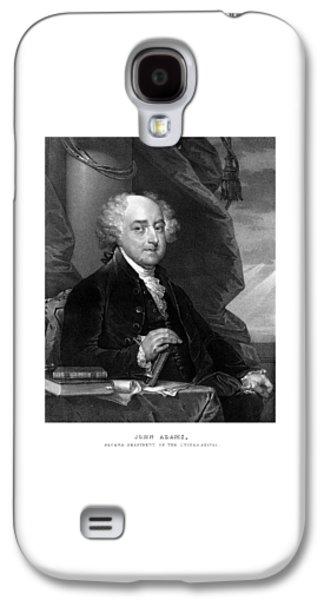 4th July Galaxy S4 Cases - President John Adams Galaxy S4 Case by War Is Hell Store
