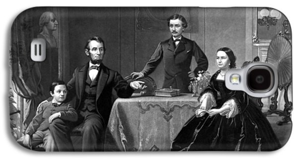 Honest Abe Galaxy S4 Cases - President Lincoln And His Family  Galaxy S4 Case by War Is Hell Store