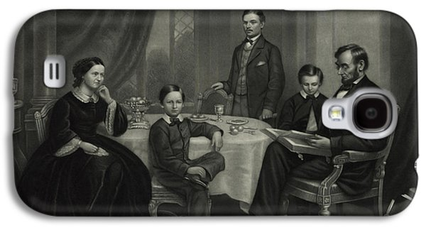President Lincoln With His Family, 1861 Galaxy S4 Case by Science Source