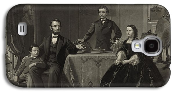 President Lincoln With His Family Galaxy S4 Case by Science Source