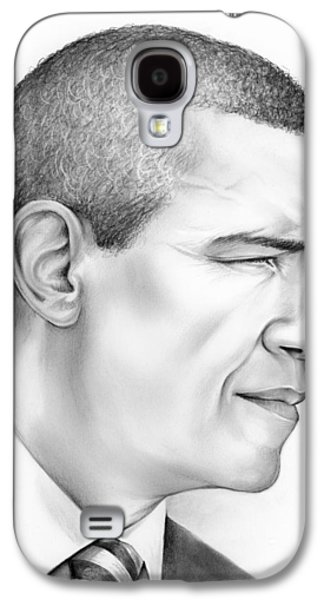 Barack Obama Drawings Galaxy S4 Cases - President Obama Galaxy S4 Case by Greg Joens