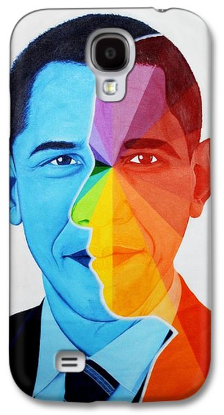 Barack Obama Galaxy S4 Cases - President of USA - Color gradient Galaxy S4 Case by Chan Siva