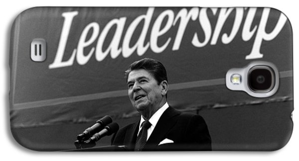 Reagan Galaxy S4 Cases - President Ronald Reagan Leadership Photo Galaxy S4 Case by War Is Hell Store